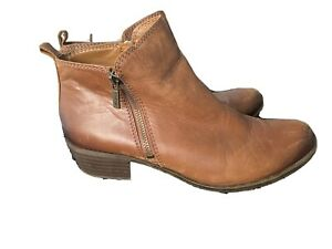 Lucky brand brown leather Women's ankle boots US 10