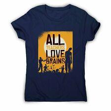 Teacher loves brains zombie halloween - women's t-shirt