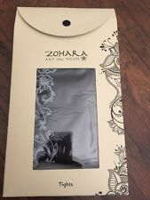 Geisha flower Patterned Tights in Black With White Print Opaque By Zohara