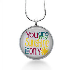 You Are My Sunshine necklace- Lyrics pendant - Christmas gifts for her - grandma