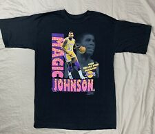 Vtg 1991 Magic Johnson Lakers Salem Sportswear Shirt Made in USA Large All Star