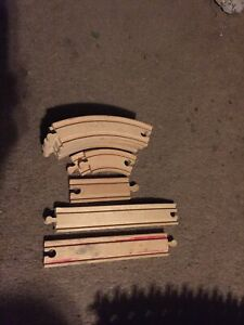 Thomas The Train Wooden Track 11 Used Pieces