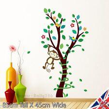 Nursery Wall Stickers Tree Monkey Animal Vinyl Art Flower Baby Owl Bedroom Decal
