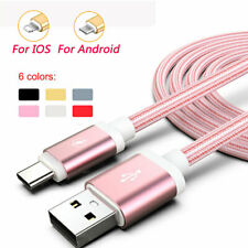 1M 2M 3M USB Data Charging Cable fit for iPhone iOS 6s 7 8P X 11 Android Type-C