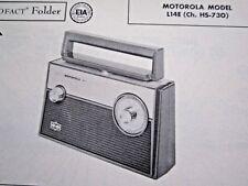 MOTOROLA L14E TRANSISTOR RADIO PHOTOFACT