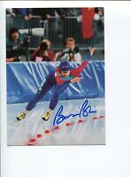 Bonnie Blair US Olympic Gold Speed Skater Signed Autograph Photo