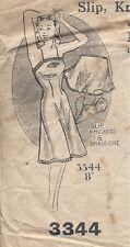 "1940s Vintage Sewing Pattern SLIP-BRA-KNICKERS B36"" (R635)"