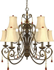Dune Gold 9 Light Chandelier With Shades