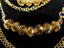 "JEWELRY  FASHION AMBER BEADS DOUBLE  NECKLACE EARRING SET. 17""L"