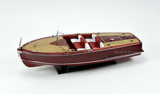 "Century Sea Maid 28"" - Handmade Wooden Classic Boat Model - RC Ready"