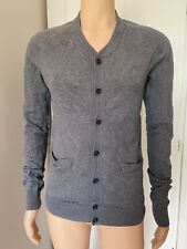 "All Saints Mens Cardigan Size M Medium Grey Button Up Sweater 19"" S Small"