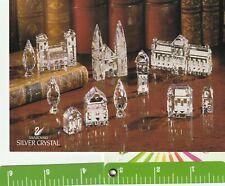 1 card 1994 Swarovski Post card postcard Silver Crystal City Retirement