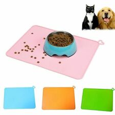 Pet Mat Dog Bowl Waterproof Silicone Food Pad Drinking Feeding Placemat Plastic