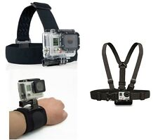 ProGear Head Chest And Wrist Mount Bundle for GoPro HERO 1/2/3/3+/4 Session