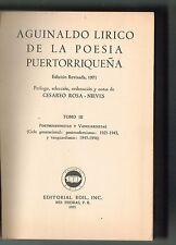 Cesareo Rosa Nieves Aguinaldo Lirico De La Poesia Puertorrriquena T3 Puerto Rico