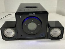 Philips DC199B/37 IPOD/IPHONE 30 Pin Clock Radio Docking Speaker System W/ Cores