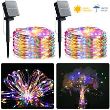 Solar Powered 200 LED 8 Modes String  Lights Waterproof Outdoor Garden Decor