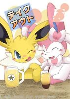 Doujinshi POKEMON C90 takeout Jolteon X Sylveon (A5 28pages) TUMBLE WEED take