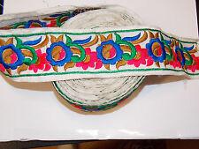 Apliques de flores multicolor bordado cinta Adorno Ribete de recorte Decoración de danza