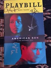 Kerry Washington And Cast Signed American Son Playbill