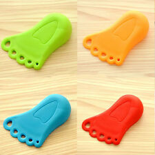 1pc Foot Design Door Stop Wedge Jammer Doorstop Stopper Home Decor Kids Baby v