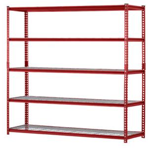 Metal Storage Shelf Industrial 5-Shelf Rack Boltless Utility Garage Organizer
