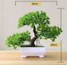 Artificial Plants Bonsai Small Fake Tree Pot Flowers Green Home Table Decoration