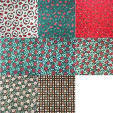 *NEW* Christmas Xmas 100% Cotton Fabric Various Designs