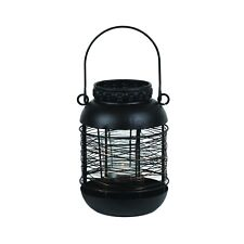 Unique Black Lantern With Copper Wire. 16cm For Your Garden Or Home