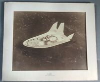 Rare McDonnell Douglas Early Space Shuttle Prototype Photo In Original Frame.
