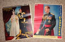 1959 Chicago Sunday Tribune Queen Elizabeth and Prince Philip's visit to Chicago