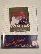 VINTAGE 1989 ST. LOUIS CARDINALS OFFICIAL SOUVENIR YEARBOOK RARE MLB BASEBALL