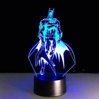 Batman Illusion LED Lamp, 3D Light Experience - 7 Colors Options