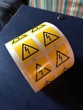 Safety Warning  AC DC Danger High Voltage Flash Sticker Roll X1