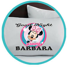 Minnie Mouse Pillowcase Pillow Case Gift Gifts Merchandise Merch Bedding Kids