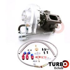 New T3 T4 T3T4 TO4E Turbo Turbocharger + Oil Drain Return  FEED Line Kit TCB