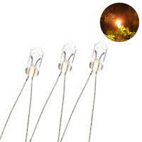 MP00W 200pcs Grain of Wheat 3mm Clear 6V Mini Bulbs