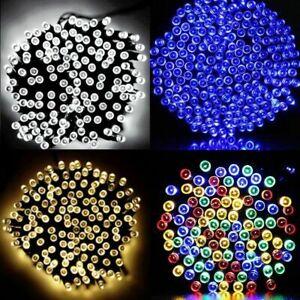 100 200 LED Solar Lichterkette KetteWeihnachtsbaum Deko Außen Innen Garten Party
