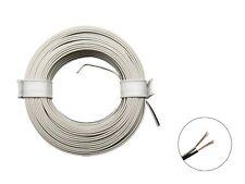 10m Ring Zwillingslitze 2x 0,08mm² weiß / schwarz Litze zweiadrig Doppellitze
