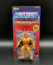 MOC 2019 Super7 MOTU Vintage Wave 3 Gold Statue He-Man Action Figure NEW