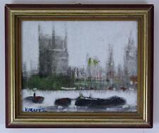 ANTHONY ROBERT KLITZ 1917-2000 Oil Painting THAMES HOUSES OF PARLIAMENT BIG BEN