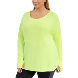 Ideology Womens Fitness Workout Activewear Pullover Top Athletic Plus BHFO 0942