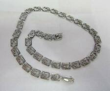 "925 STERLING SILVER ""DANECRAFT STERLING"" SWIRL DESIGN 16"" LONG NECKLACE"