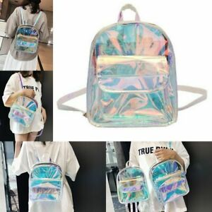 Mini Holographic Backpack For Teenage Girls Women Shoulder Small School Bag New
