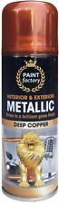 x1 Metallic Copper Gloss All-Purpose Aerosol Spray Paint Car DIY Arts Crafts