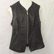 Banana Republic Brown Zipper Leather Vest Women's Size 8