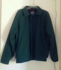 Vtg 60s WOOLRICH Bomber Mackinaw Green Wool Jacket Size Large Plaid Lining Coat