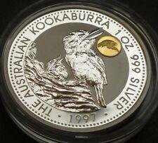 Australia 1oz .999 Fine Silver 1 Dollar Kookaburra 1997 Phoenix Privy Mark + COA