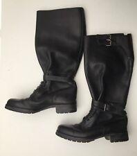 """Ralph Lauren Ladies 16"""" Boots  506787 Leather Black Size 6"""