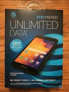 AT&T SAMSUNG GALAXY J2 DASH 16GB Black - Prepaid Smartphone BRAND NEW